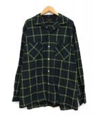 ()の古着「アブサンシャツ」|グリーン