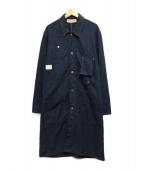 ()の古着「ヘンリボーンショップコート」|ネイビー