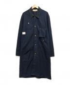 BONCOURA(ボンクラ)の古着「ヘンリボーンショップコート」|ネイビー
