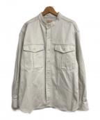 BONCOURA(ボンクラ)の古着「別注CPOバンドカラーイングリッシュツイルシャツ」|アイボリー