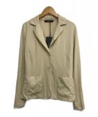 ()の古着「カット地テーラードジャケット」|ベージュ