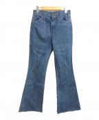 Wrangler(ラングラー)の古着「フレアデニムパンツ」 インディゴ