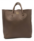 YOUNG & OLSEN The DRYGOODS STORE()の古着「EMBOSSED LEATHER TOTE」|モカ