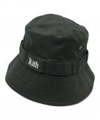 KITH(キス)の古着「刺繍バケットハット」|オリーブ