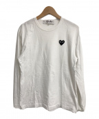 PLAY COMME des GARCONS(プレイ コムデギャルソン)の古着「PLAY HEART LOGO L/S カットソー」|ホワイト