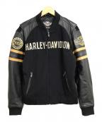 HARLEY-DAVIDSON(ハーレーダビットソン)の古着「切替レザースタジャン」|ブラック