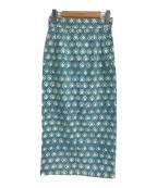 SZ Blockprints(エスゼットブロックプリント)の古着「I-Line Block Print Skirt」|ブルー