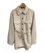 JUSGLITTY(ジャスグリッティー)の古着「ベルト付CPOジャケット」|ベージュ