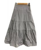 ()の古着「ティアードボリュームスカート」 グレー