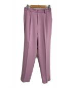 ()の古着「タックカラーパンツ」 ピンク
