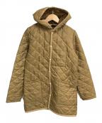 LAVENHAM(ラベンハム)の古着「フーデットキルティングジャケット」 ベージュ