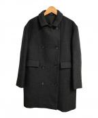 LE GLAZIK(ル グラジック)の古着「メルトンウールダブルボタンコート」 グレー