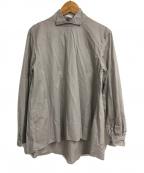 mizuiro-ind(ミズイロインド)の古着「ハイネックブラウス」 グレー