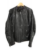 ()の古着「シープスキンシングルライダースジャケット」|ブラック