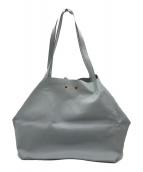()の古着「レザートートバッグ」|ライトブルー