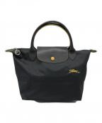 LONGCHAMP(ロンシャン)の古着「ルプリアージュクラブトートバッグ」 ブラック
