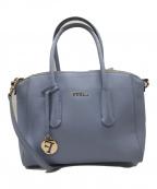 FURLA(フルラ)の古着「TESSA ハンドバッグ」 ブルー