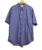 ()の古着「Thomas Mason S/S B.D Shirt」|ブルー×ホワイト