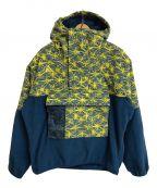 NIKE ACG()の古着「AOP LTWT Fleece Jacket」|ネイビー×イエロー