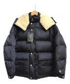 ORCIVAL()の古着「ナイロンタフタボアフード付ダウンジャケット」|ネイビー