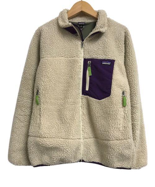 Patagonia(パタゴニア)Patagonia (パタゴニア) Kids' Retro-X Jacket ナチュラル×パープル サイズ:XL(キッズ)の古着・服飾アイテム