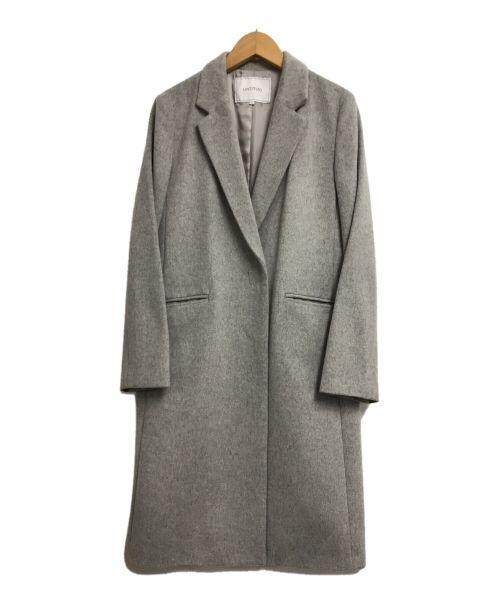 UNTITLED(アンタイトル)UNTITLED (アンタイトル) ソフトロングコート グレー サイズ:2の古着・服飾アイテム