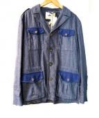 HEVO(イーヴォ)の古着「リネン混ジャケット」|インディゴ