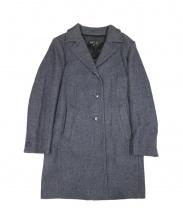 agnes b(アニエスベー)の古着「ヘリンボーンロングコート」