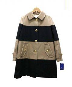 BLUE LABEL CRESTBRIDGE(ブルーレーベルクレストブリッジ)の古着「ステンカラーコート」|ベージュ×ブラック