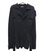 agnes b(アニエスベー)の古着「ニットジャケット」|ブラック