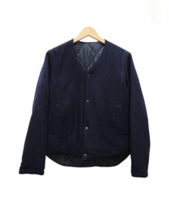 CORONA(コロナ)の古着「中綿リバーシブルジャケット」 ネイビー×ブラック