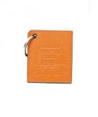 HERMES(エルメス)の古着「レザーチャーム」|オレンジ