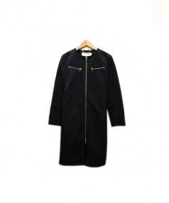 ADORE(アドーア)の古着「ノーカラーコート」|ブラック