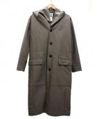 STEPHAN SCHNEIDER(ステファン・シュナイダ)の古着「レイヤードフードコート」|グレージュ