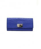 Kate Spade(ケイトスペード)の古着「オーストリッチ長財布」|ブルー