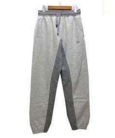 adidas Originals by Alexander Wang(アディダスオリジナルス バイ アレキサンダーワン)の古着「インサイドアウトジョガーパンツ」 グレー×ホワイト