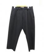 MAISON FLANEUR(メゾン フラネウール)の古着「Laser-cut Trouser」 ブラック