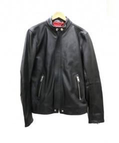 DIESEL(ディーゼル)の古着「ラムレザージャケット」 ブラック