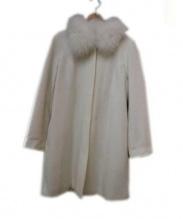 BE RADIANCE(ビーラディエンス)の古着「フォックスファー付きコート」|ホワイト