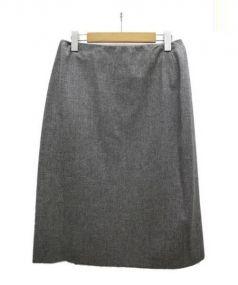 HERMES(エルメス)の古着「カシミヤ混スカート」|グレー
