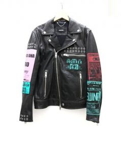 DIESEL(ディーゼル)の古着「マルチパッチライダースジャケット」 ブラック