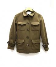 ANAYI(アナイ)の古着「圧縮ウールミリタリージャケット」|カーキ