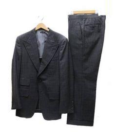 TOM FORD(トムフォード)の古着「ピークドラペルスーツ」|ブラック