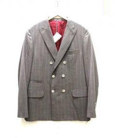 BRUNELLO CUCINELLI(ブルネロ クチネリ)の古着「ダブルブレストジャケット」|グレー