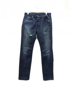 KSUBI(スビ)の古着「ダメージ加工テーパードデニム」|インディゴ
