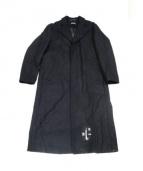 misbhv(ミスビヘイブ)の古着「パッチ付ロングチェスターコート」|ブラック