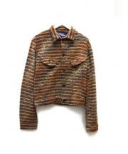 CDG JUNYA WATANABE MAN(コムデギャルソン ジュンヤワタナベ)の古着「ニットジャケット」|ブラウン