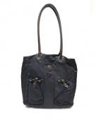 Felisi(フェリージ)の古着「切替トートバッグ」|ブラック