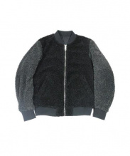 DIESEL(ディーゼル)の古着「リバーシブルボアMA-1ジャケット」|ブラック