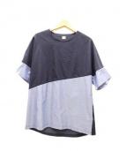 E TAUTZ(イートウツ)の古着「切替プルオーバーシャツ」 ネイビー